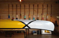 Hand-Painted Canoes