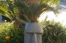 Ancient Sculpture Flower Pots