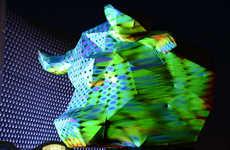 3D Disco Bull Art