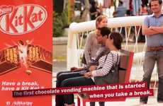 Candy-Dispensing Public Benches