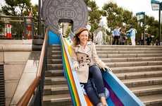 Rainbow-Colored Commuter Slides