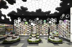 Hexagonal Grocery Merchandising