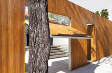 Modern Timber-Gated Homes