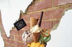 Cone-Topped Ice Creams