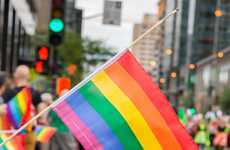 Half-Mast Pride Flags