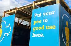 Urine-Powered Festival Displays