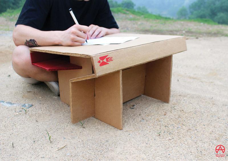 Foldable Cardboard Desks