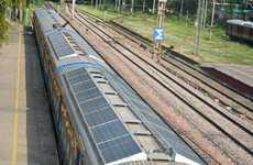 Solar Panel-Sheathed Trains
