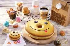 Oversized Smiling Donut Cakes