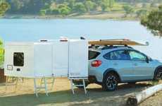 Wheel-Free Camping Trailers
