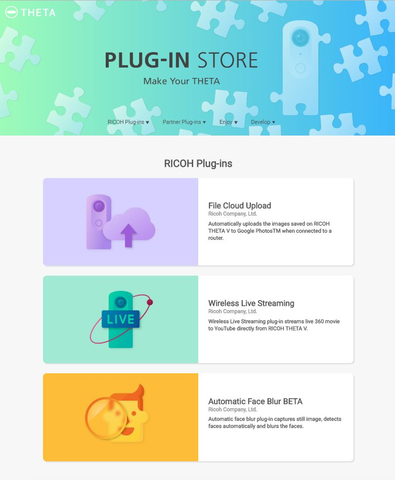 Camera Plug-In Stores