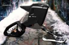 Snowmobile-Motorcycle Hybrids