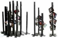 Towering Magazine Racks