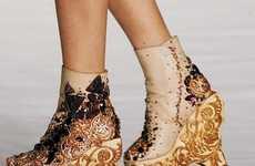 Holey Wedged Heels