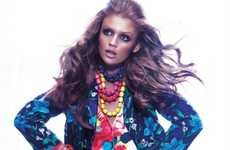 Floral Pattern-Clashing Fashion