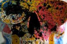 Paint-Splattered Skulls
