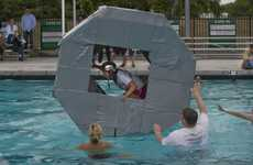 Giant Floating Hamster Wheels