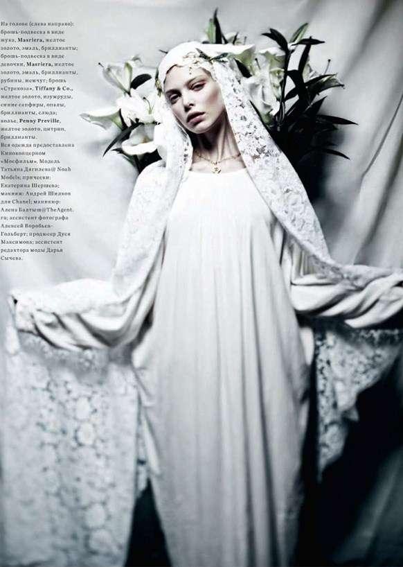 Tanya Dziahileva Harpers Bazaar Russia 8