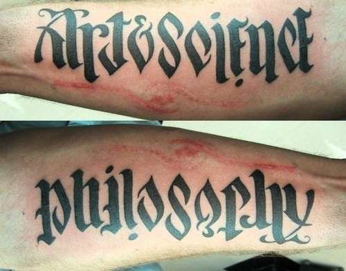Ambigrammatic Tattoo
