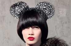 Furry Mouse Ear Headbands