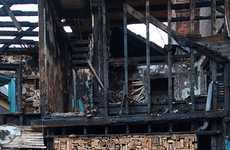 Burned Building Art