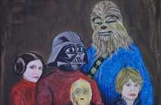 Awkward Sci-Fi Family Art