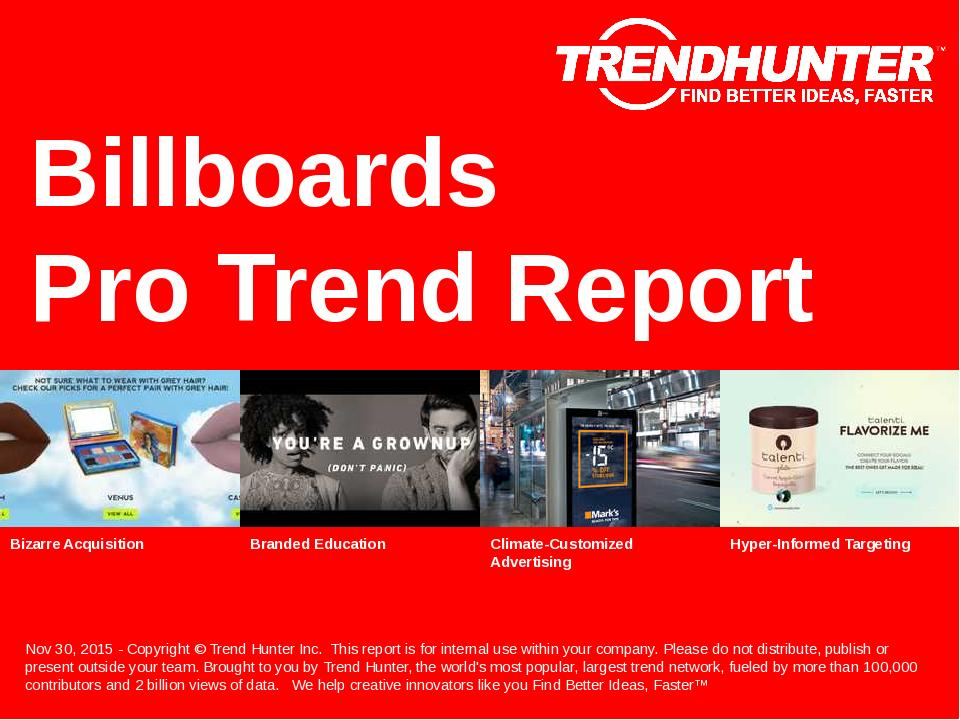 Billboards Trend Report Research