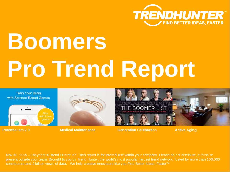 Boomers Trend Report Research