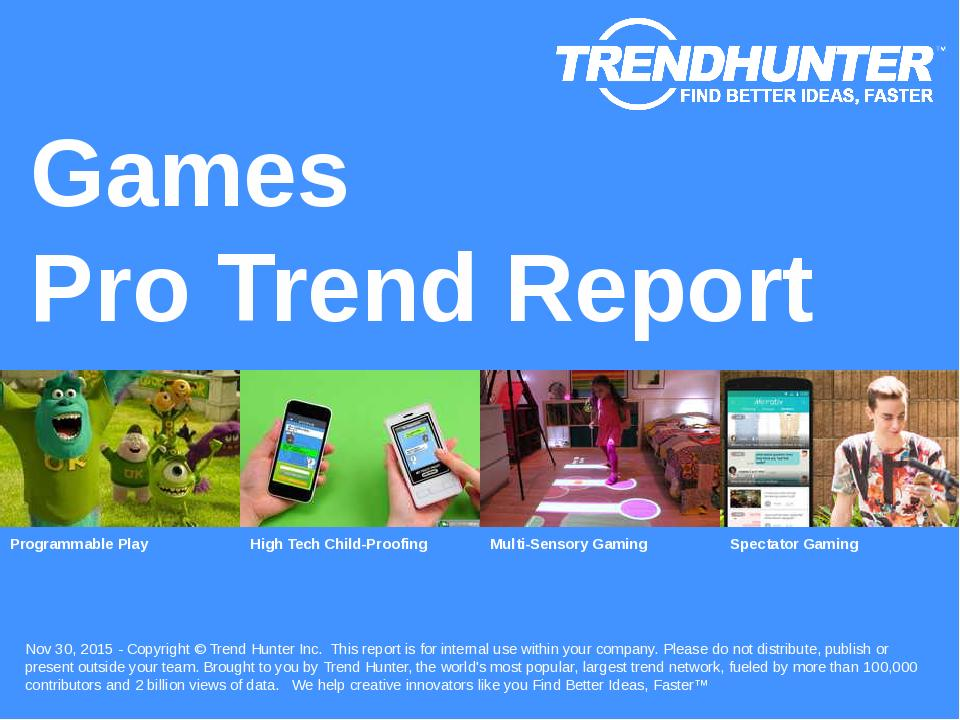 Games Trend Report Research