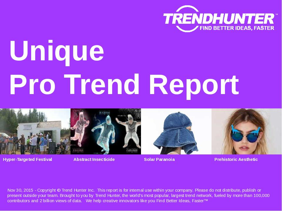 Unique Trend Report Research