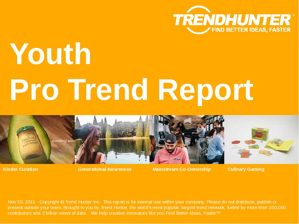 Youth Trend Report Research