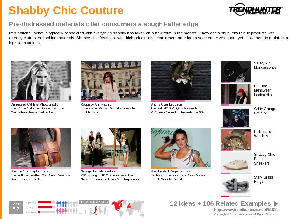 Celebrity Trend Report sample slide