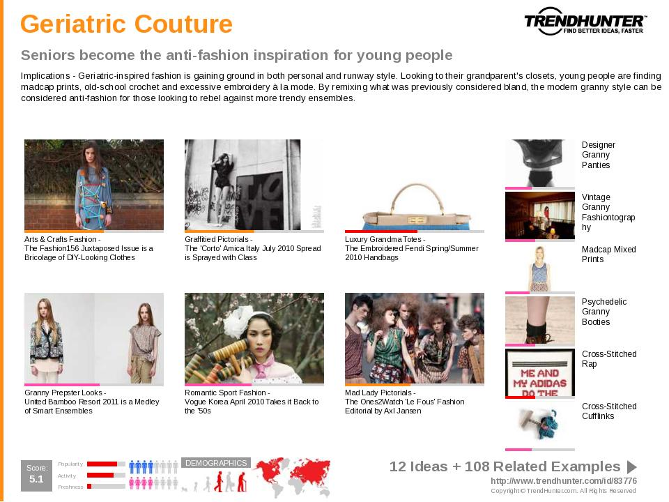 Pop Culture Trend Report sample slide