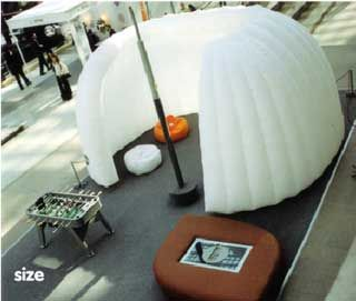 Inflatable Isolated Work Stations