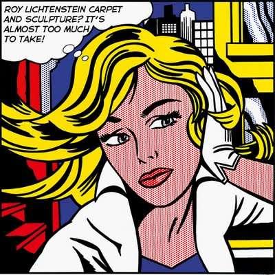 Pop Art Carpeting-Roy Lichtenstein