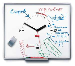 Personal/Team Work Organization Clock/Whiteboard