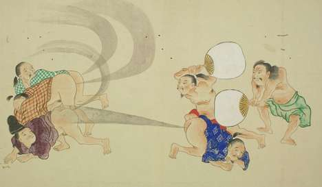 Japanese 'Fart War' Scrolls