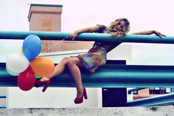 Rooftop Balloon Editorial