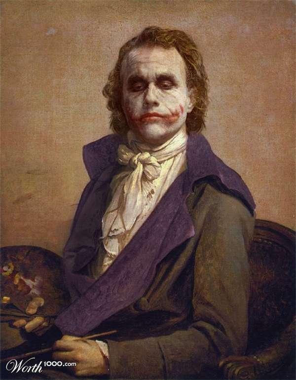 Superheroes in Iconic Paintings
