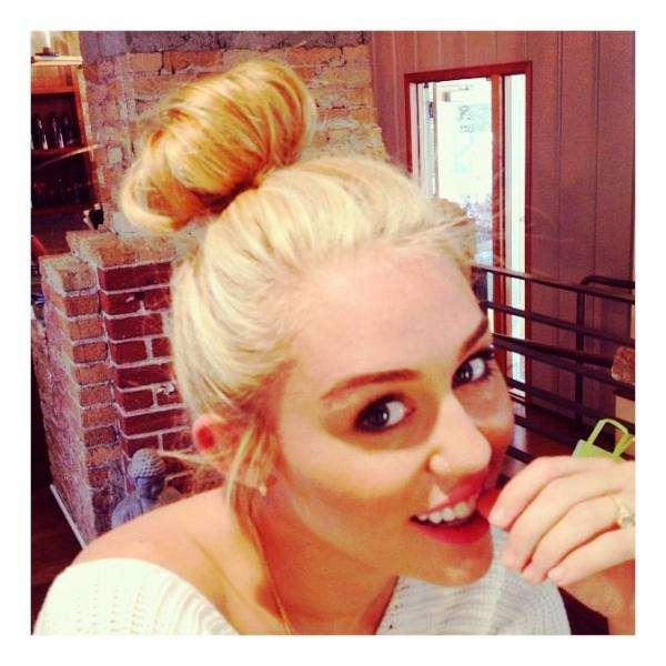 Miley's Bun Makes Headlines (And a Twitter)