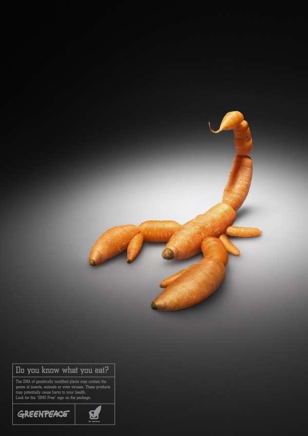 Shockvertising Organic Food