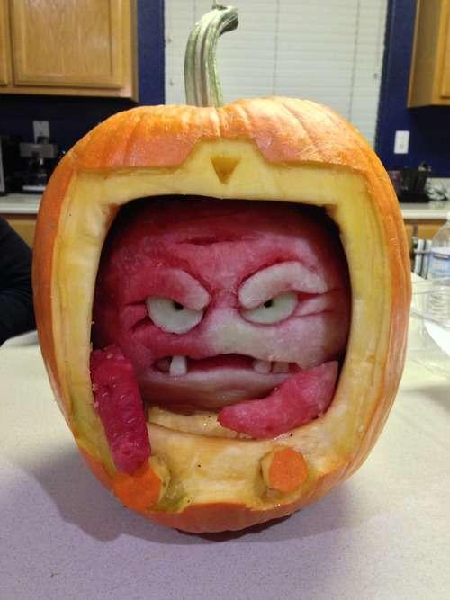 Cartoon Villain Pumpkin Carvings