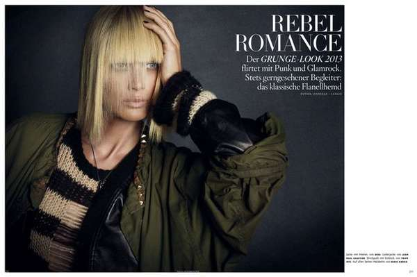 'Rebel Romance' Grunge Editorial