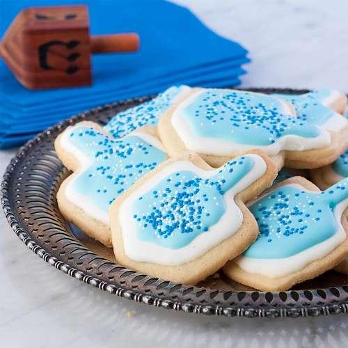 Dreidel Blue Icing Treats