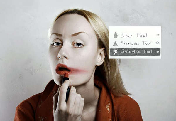 Photoshop-Inspired Cosmetics Captures