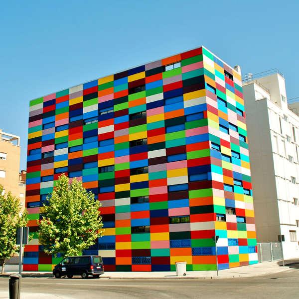 Vibrant Color-Block Buildings
