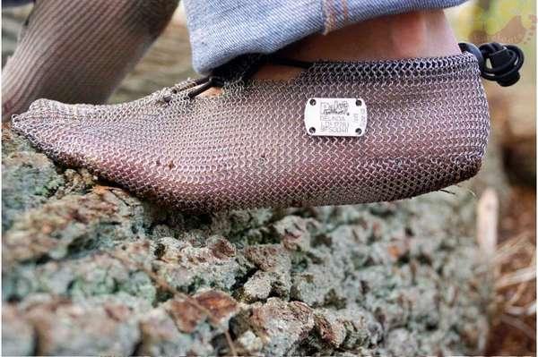 Minimal Chainmail Footwear