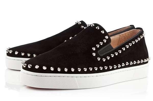 Studded Suede Footwear