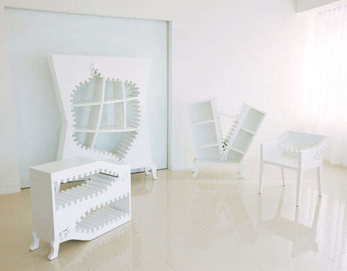 Psychedelic Zipping Furnitures