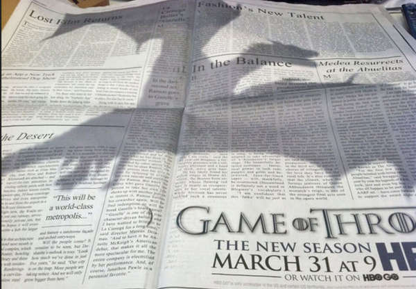 Looming Dragon Print Ads